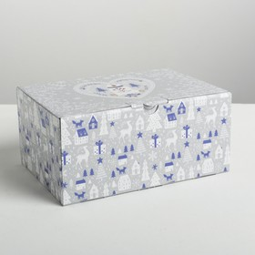 Складная коробка «Новогодняя», 22 × 15 × 10 см