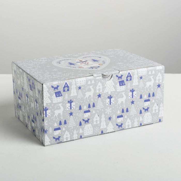 inMarketPrice - Онлайн Маркет - Складная коробка «Новогодняя», 22 × 15 × 10 см