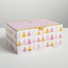 Складная коробка «Пусть зима приносит радость», 22 × 15 × 10 см