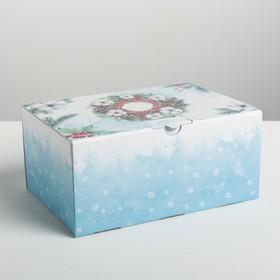 Складная коробка «Снежной зимы», 22 × 15 × 10 см
