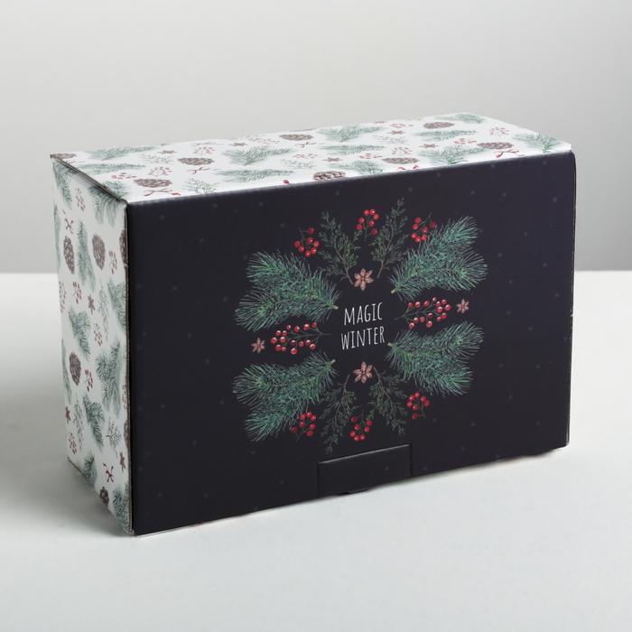 Складная коробка Winter time, 22 × 15 × 10 см - фото 282123082