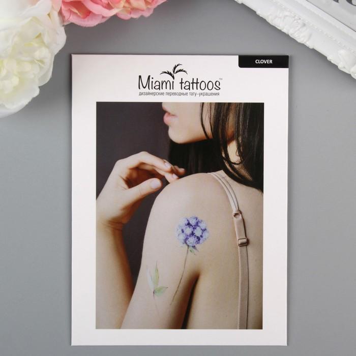 """Татуировка на тело """"Miami Tattoos Сlover"""""""