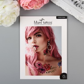 "Татуировка на тело ""Flower Power"" (набор 3 листа)"