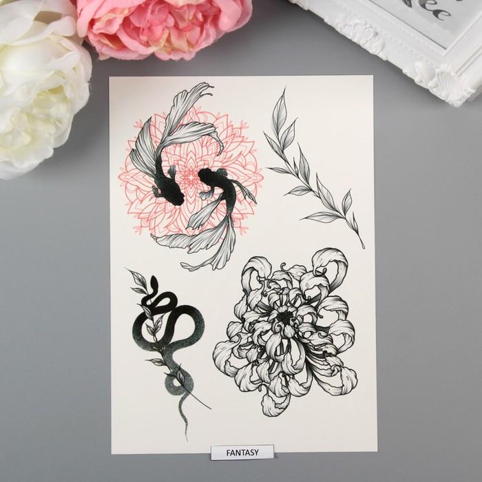 """Татуировка на тело """"Fantasy by Sticksandbones"""""""
