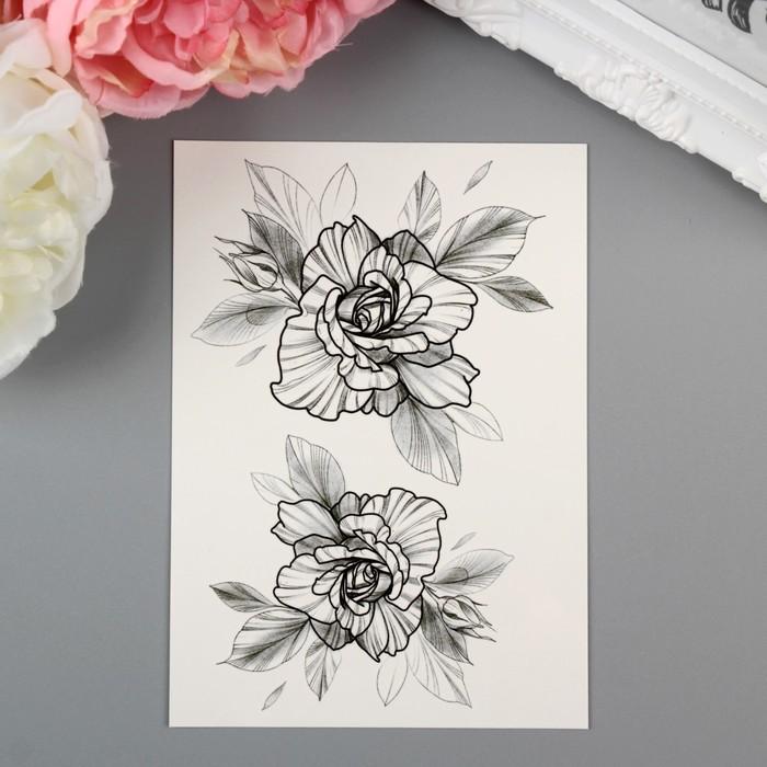 "Татуировка на тело ""Miami Tattoos Dark Roses"""