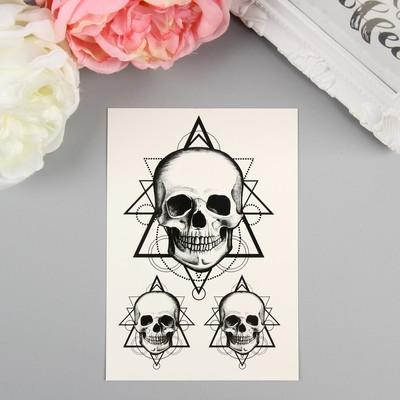 "Татуировка на тело ""Miami Tattoos Skull"""