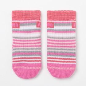 Носки детские махровые, цвет розовый, размер 9-10