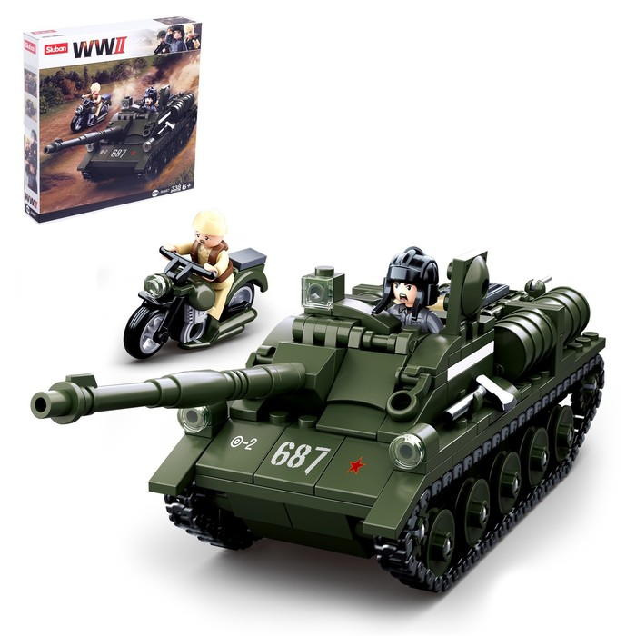 Конструктор Армия «Боевой танк», 338 деталей - фото 3041060