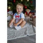 """Боди Крошка Я """"Любимчик Деда Мороза"""", белый, р.22, рост 62-68 - фото 105479082"""
