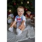 """Боди Крошка Я """"Любимчик Деда Мороза"""", белый, р.22, рост 62-68 - фото 105479083"""