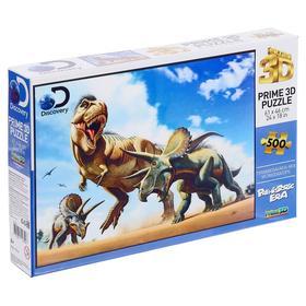 3D Пазл 500 элементов «Тираннозавр против трицератопса»