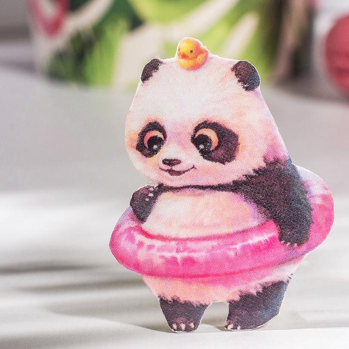 """Брошь """"Панда"""" с утенком"""
