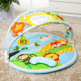Развивающий коврик «Летний день» с дугой для планшета/телефона