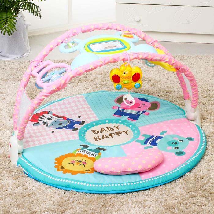 Развивающий коврик «Наш малыш» с дугой для планшета/телефона