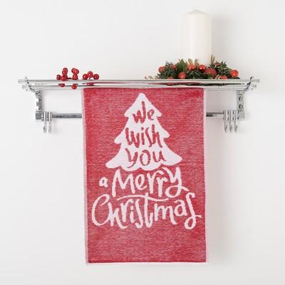 Terry towel Privilea Christmas Trees 3 50х30 cm, red, 100% cotton