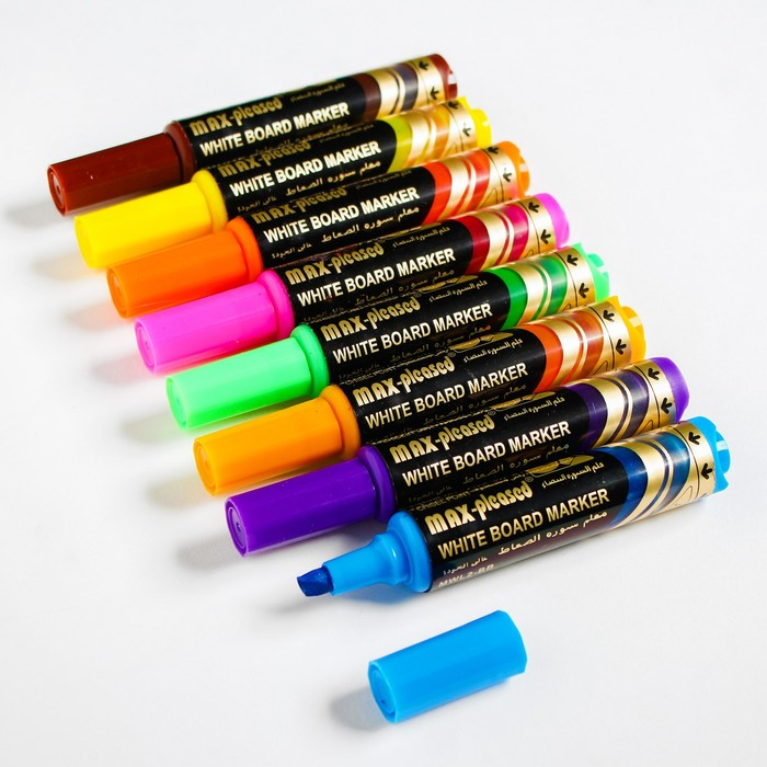 "Набор маркеров на водной основе ""Премиум"" (8шт) 2х7х17,7 см - фото 537628384"