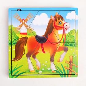 Пазл разрезной «Животные фермы», 3 картинки в раме