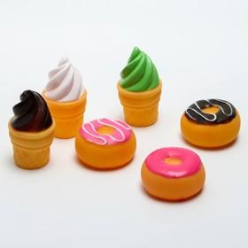 Набор игрушек для купания «Сладости», 6 игрушек