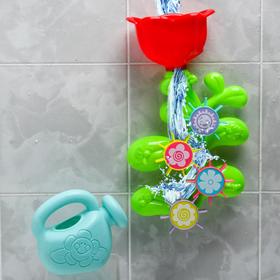 Набор игрушек для купания «Цветок - мельница» с лейкой