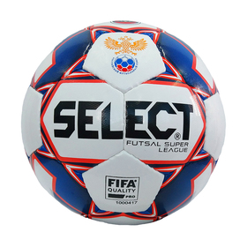 Мяч футзальный SELECT 850718 172 SUPER LEAGUE АМФР РФС FIFA, размер 4, 32 панели, 3 подслоя