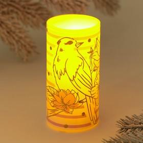 Свеча светодиодная восковая «Птица»