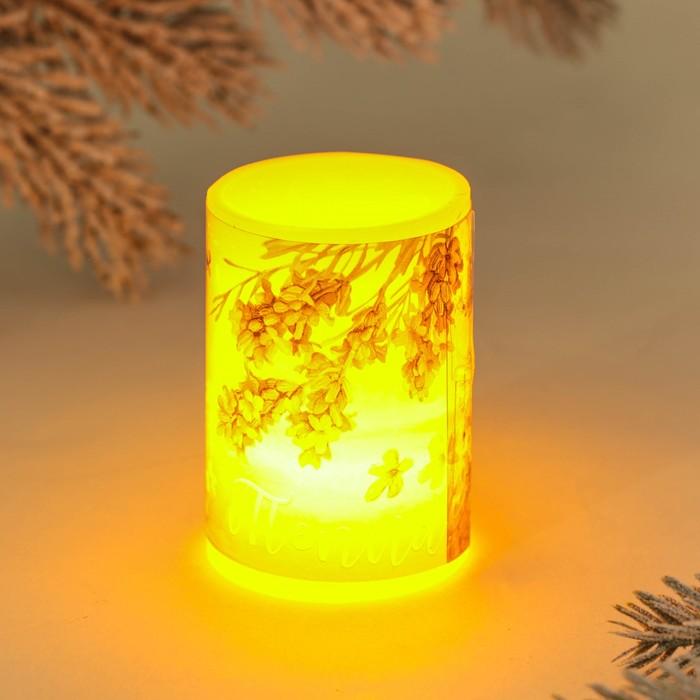 Свеча светодиодная восковая «Тепла»