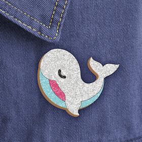 """Фреска, значок """"Белый кит"""""""