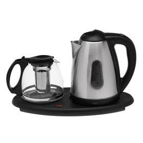 Набор чайный LuazON LSK-1809, металл, 1.8/1.1 л, 1500 Вт, серебристый