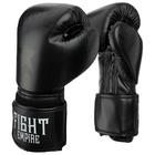 Перчатки боксёрские детские FIGHT EMPIRE, 4 унции, цвет чёрный