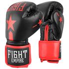 Перчатки боксёрские детские FIGHT EMPIRE, 6 унций, цвет чёрный - фото 727103