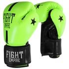 Перчатки боксёрские FIGHT EMPIRE, 14 унций, цвет салатовый