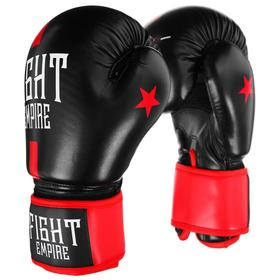 FIGHT EMPIRE Boxing Competitive Gloves, 10 oz, black / red