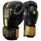 Перчатки боксёрские соревновательные FIGHT EMPIRE, 10 унций, цвет чёрный/золотой