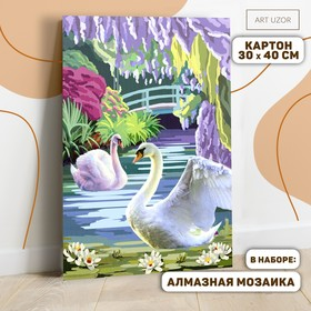 Картина по номерам с алмазной вышивкой без подрамника «Лебедь», 30 х 40 см