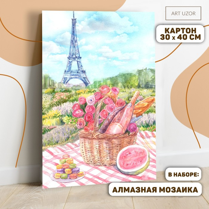 Картина по номерам с алмазной вышивкой без подрамника «Пикник в Париже», 30 х 40 см