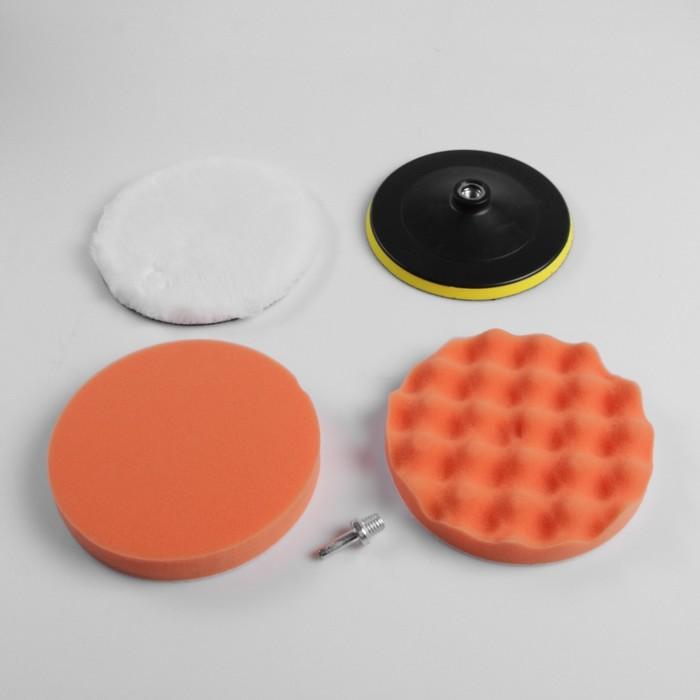 Набор кругов для полировки кузова TORSO, 180 мм, 5 предметов