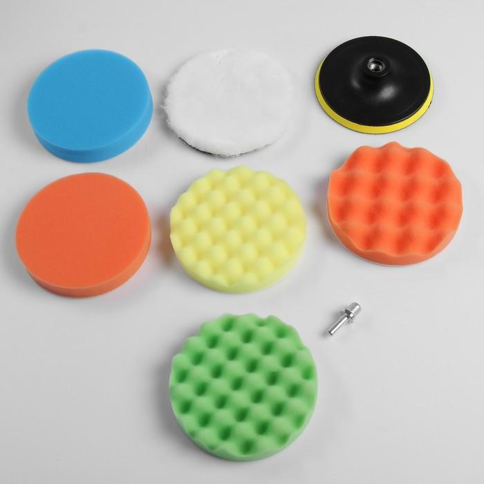 Набор кругов для полировки кузова TORSO, 150 мм, 8 предметов