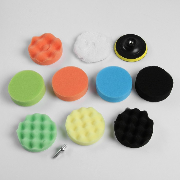 Набор кругов для полировки кузова TORSO, 100 мм, 11 предметов