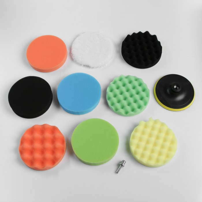 Набор кругов для полировки кузова TORSO, 150 мм, 11 предметов