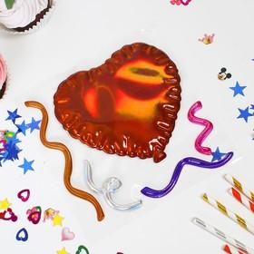 Наклейки на воздушные шары «Сердце», цвет МИКС