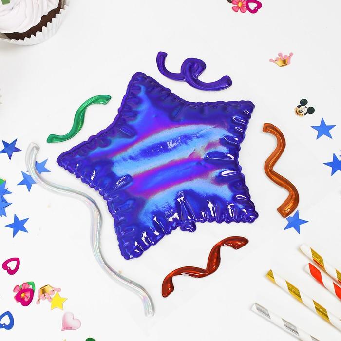 Наклейки на воздушные шары «Звезда», цвет МИКС