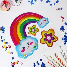 Наклейки на воздушные шары «Радуга»