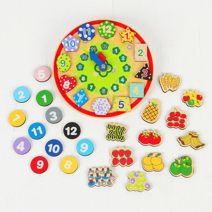 """Деревянная игрушка """"Волшебные часы"""" (3 комплекта липучек) 22,5х23х7 см"""