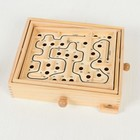 Деревянная игра «Лабиринт» (2 шарика) 26х30х7 см - фото 1027403