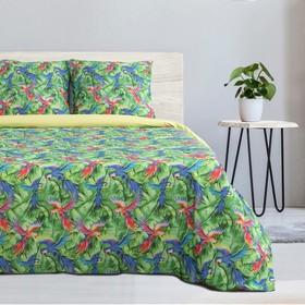 """Bedding """"Ethel"""" 2 SP. Parrots 175×215 cm, 200 x 220 cm, 70×70 cm -2 PCs, 100% cotton, poplin 125g/m2"""