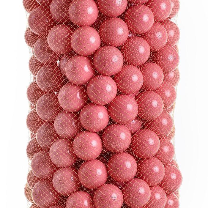 Набор шаров для сухого бассейна 500 шт, цвет: коралловый