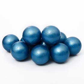 Набор шаров для сухого бассейна 500 шт, цвет: синий металлик