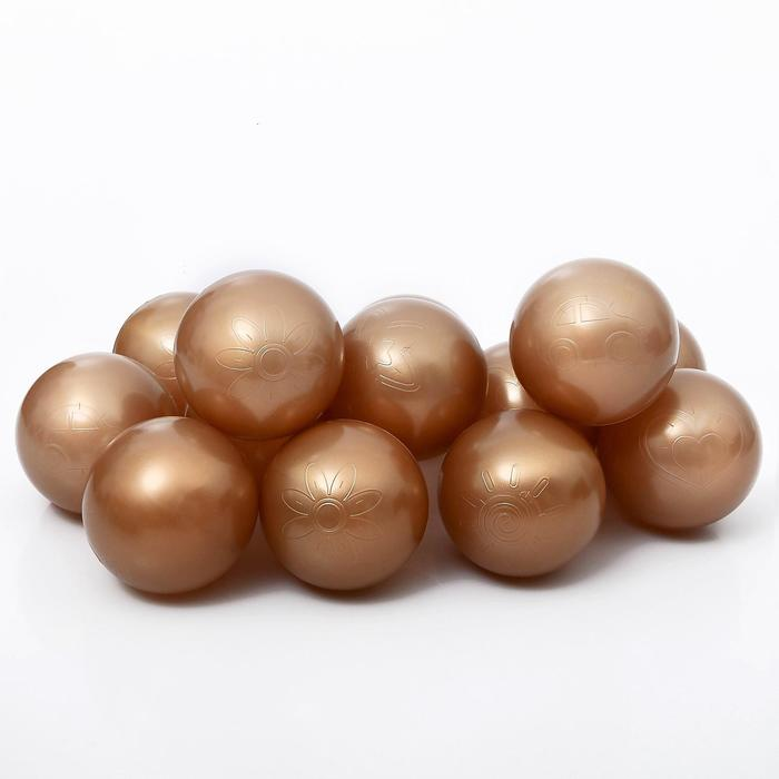 Набор шаров для сухого бассейна 500 шт, цвет: бронза