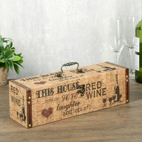 Box wood leatherette with a bottle under cork