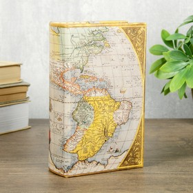 "Сейф-книга дерево кожзам ""Старинная карта"" 17х11х5 см"